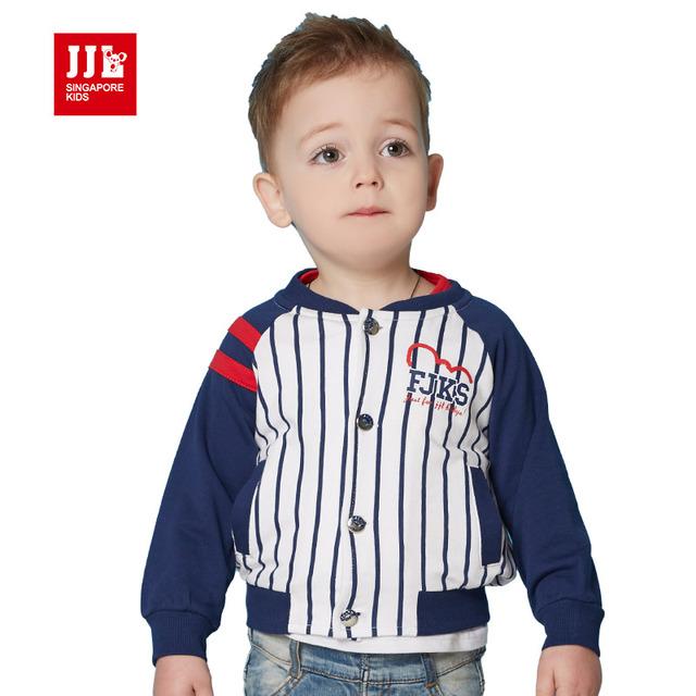 2016 primavera e outono meninos e meninas do bebê longo-t-shirt de mangas compridas com capuz da camisola da moda coreana listrado hoodies beisebol moda