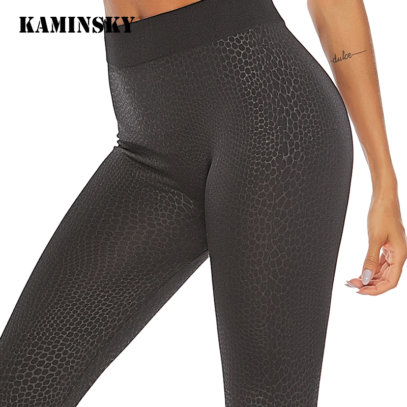 Kaminsky Plus Size Sexy Fitness   Leggings   Women High Waist Hip Fashion Casual Pants Breathable Girl Seamless   Leggings   Mujer