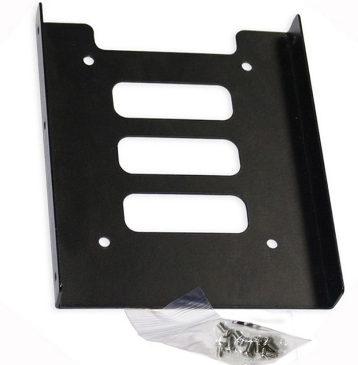 """SSD HDD Holder Kit Metal Mounting Adapter Bracket 2.5/"""" to 3.5/""""PC Hard Drive Tray"""
