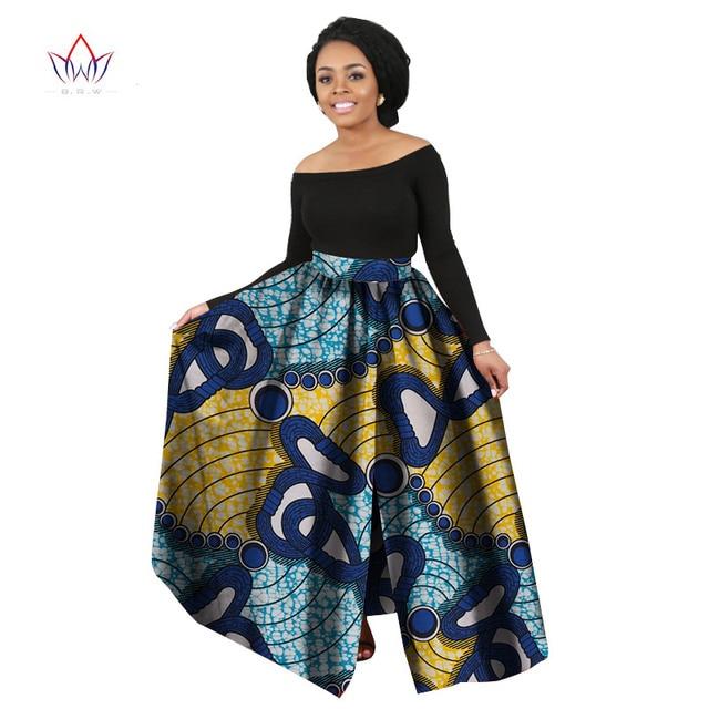 317f29cd37 2017 Fashion Women African Print Long Skirt Ankara Dashiki High Waist A  Line Maxi Long Skirt Ladies Jupe Longue Femme WY706