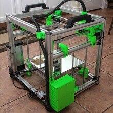 1 комплект HyperCube Evolution 3D принтер металлическая рамка экструзии с аппаратным комплектом X300 x Y300 x Z300 печатная кровать области