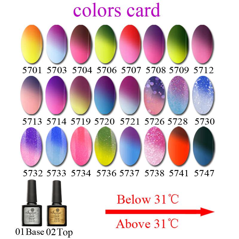 Aliexpress.com : Buy Saviland 2Pcs 10ml Mood Changing Gel Nail Enamel  Fashion Color Soak Off UV Gel Nail Polish Temperature Change Varnish from  Reliable ...