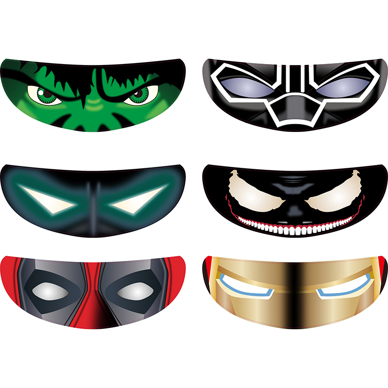 New Style Removable Motorcycle Bike Helmet Visor Sticker Cool Decal