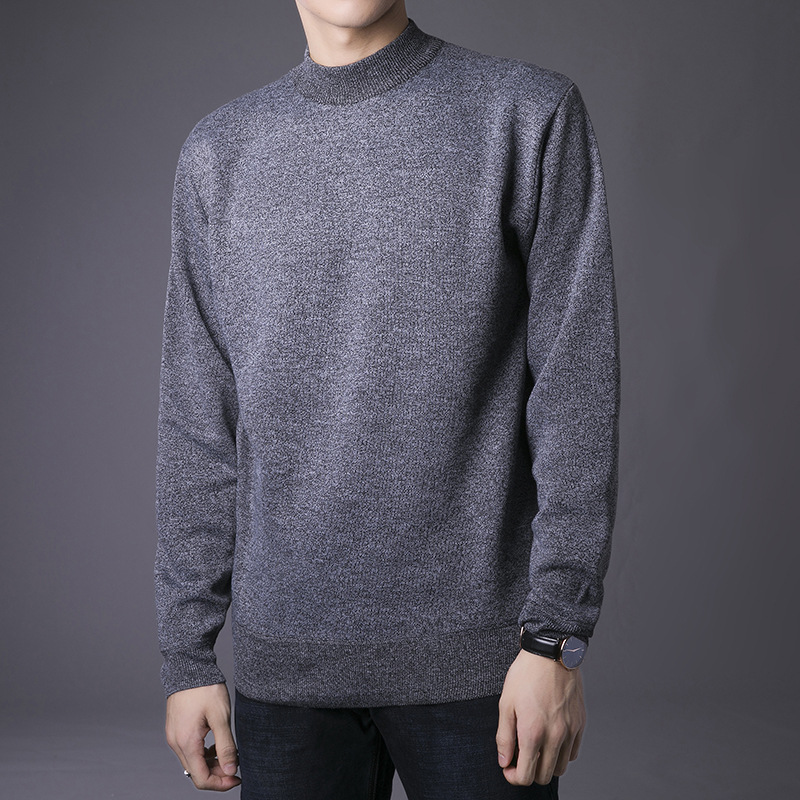 Men\`s Sweaters Fashion Casual Solid Color Slim Fit Sweaters And Pullovers Knittwear Basic Jumper Men Tops Pull Homme Hiver (9)