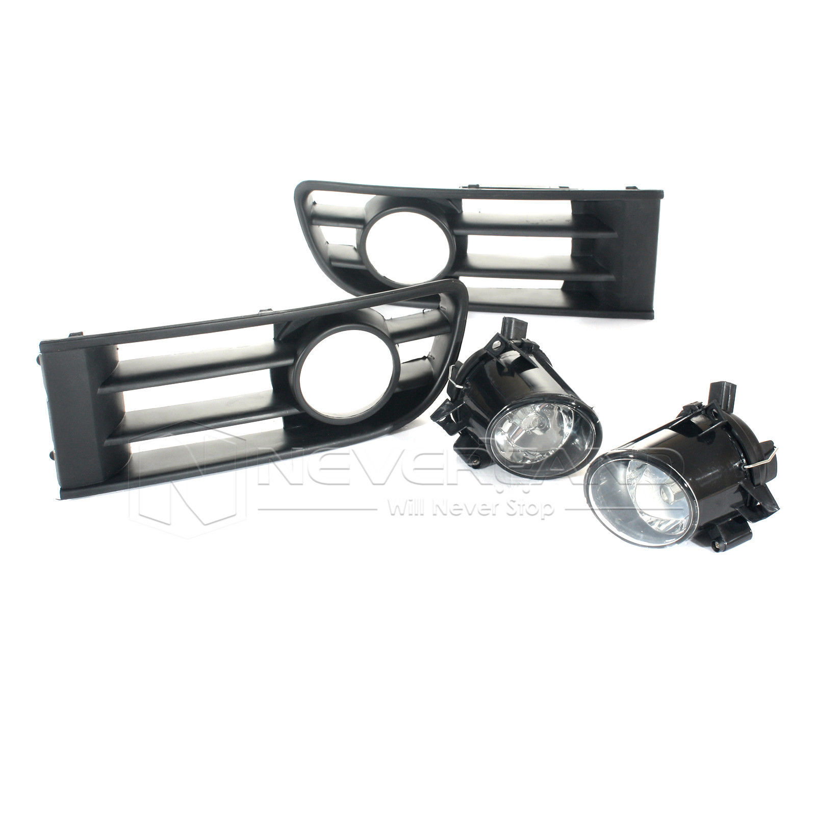 For VW POLO 9N1 HB E-MARK 2001-2005 Front Bumper Lower Grille Grills Fog Lights Lamp D10