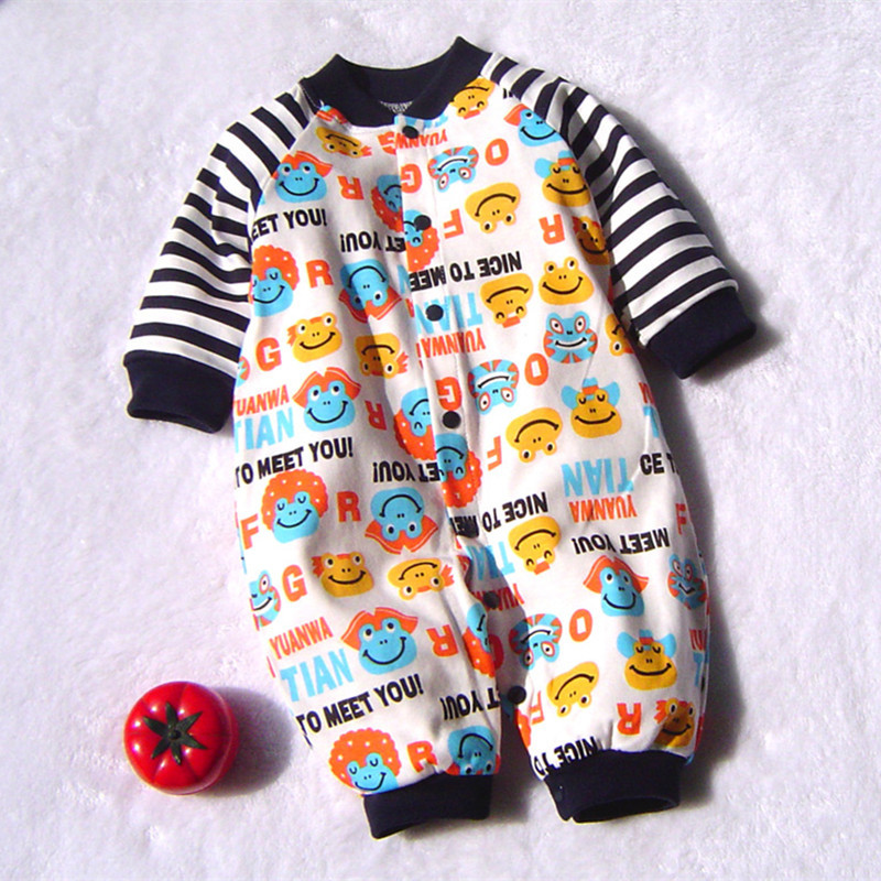 2017 Baby Rompers Cotton Cartoon Clothes Newborn Baby Clothing Costume Baby Boy Girls Jumpsuit Overalls Roupa Bebes Clothes P11 cotton baby rompers set newborn clothes baby clothing boys girls cartoon jumpsuits long sleeve overalls coveralls autumn winter