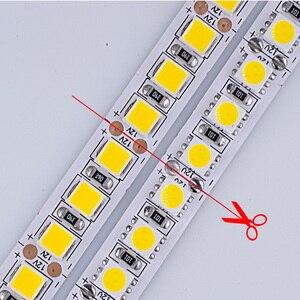 Image 2 - LED Strip Light diode LED light tape backlight 12V 5m 600 LED 5054 IP67 waterproof white warm white
