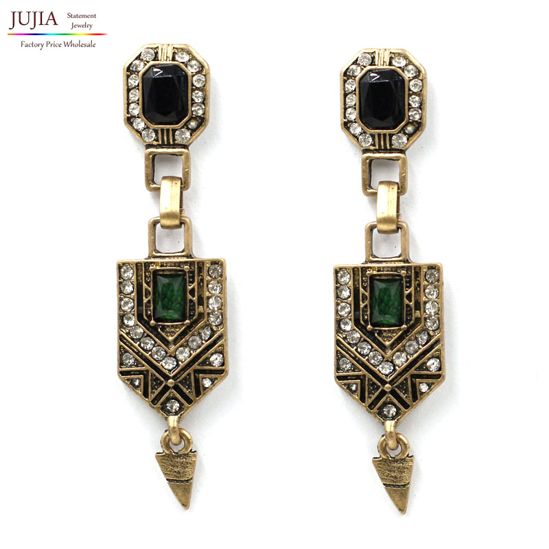 New 2017 one pair wholesale Trend fashion hot sale women vintage Earrings