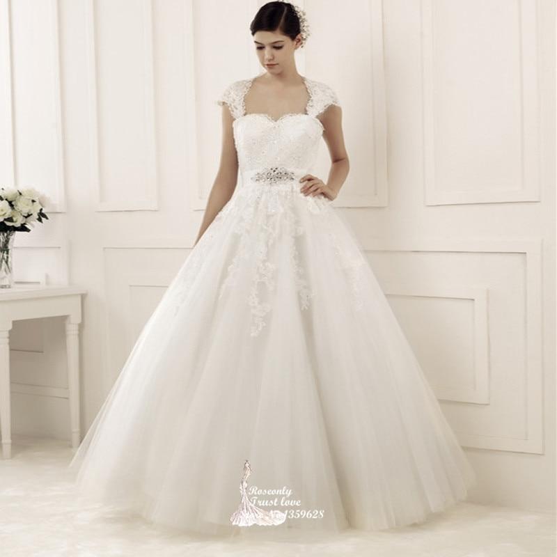 Wedding Dresses With Sweetheart Neckline And Sleeves: Vestido De Noiva 2015 Cap Sleeve Sweetheart Neckline