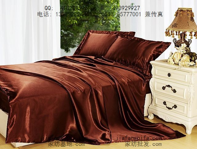 Brown Coffee Mulberry Silk Bedding Set King Size Queen S