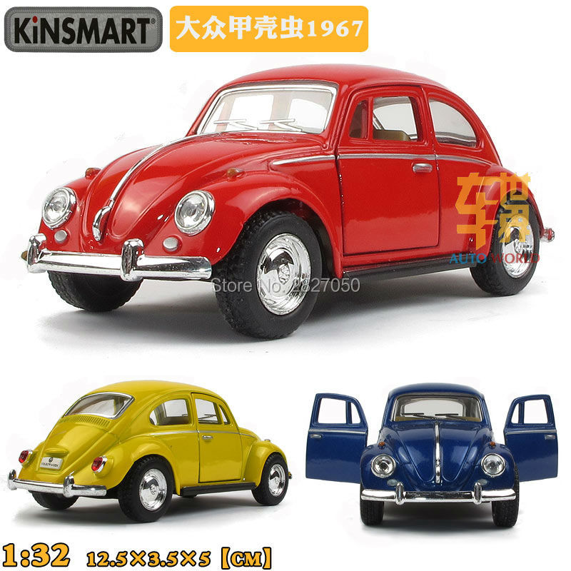 Kinsmart VW Classical Beetle 1967 1:32 5Inch Diecast Metal Alloy Cars Toy Pull Back Car As Gift For Kids