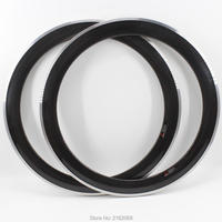 2Pcs New 700C 60mm Road Fixed Gear Track Bicycle 3K Twill Carbon Wheels Bike Clincher Carbon