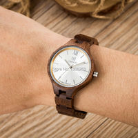 UWOOD New Coming Walnut Material Small Size Women Dress Wood Watch Natural Women Lady Dress Wood Watch