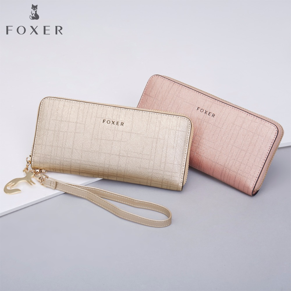 FOXER Wristlet Clutch Wallets Purse Cellphone-Bag Fashion Women Long with