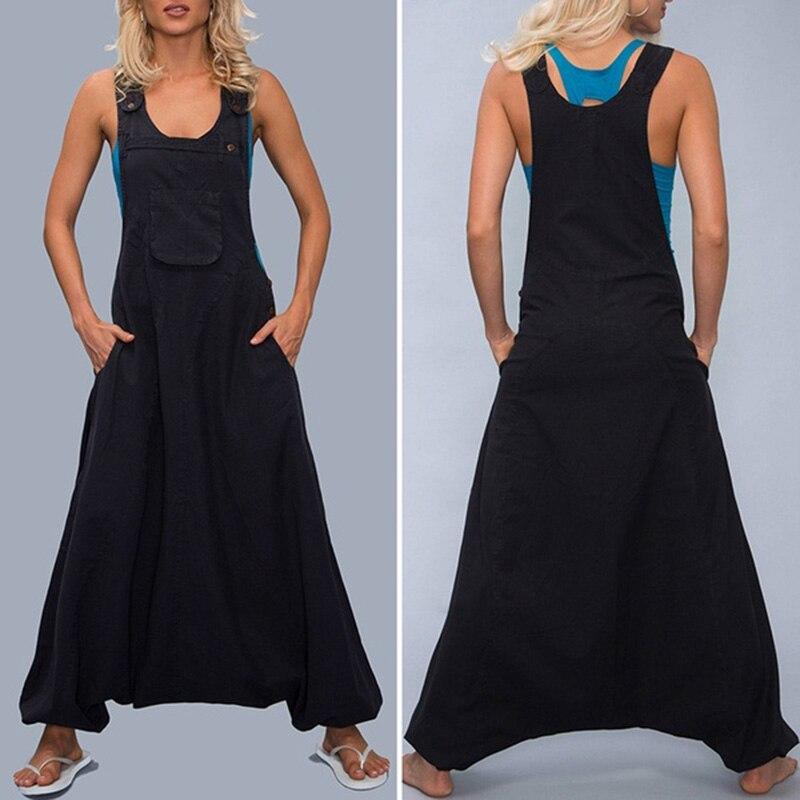Ladies Bodysuit Women   Jumpsuit   Summer Baggy Crotch 2019 Beach Drop Clubwear Romper Nightclub Sleeveless Casual
