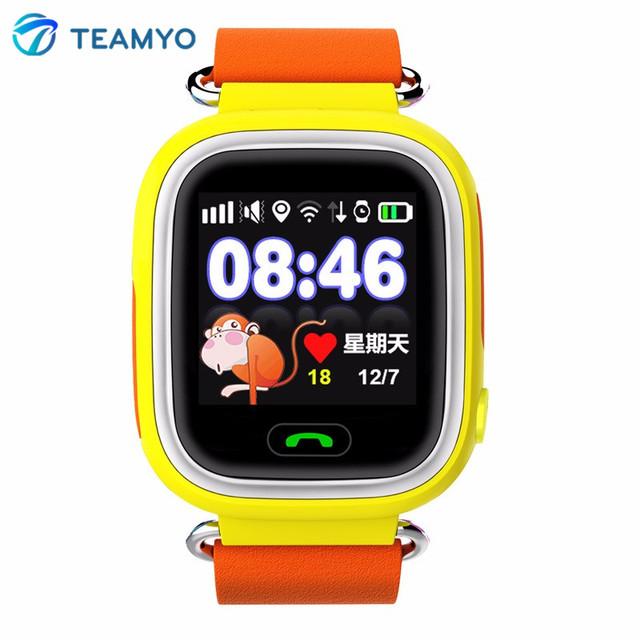 Niños smart watch q90 bebé gps smartwatch sos tracker dispositivo de localización de llamadas anti perdido monitor de reloj de los cabritos