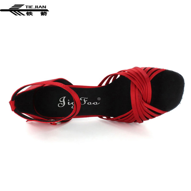 Red Satin Classic Ballroom Latin Salsa Tango Dance Shoes ALL SIZE/Latin Dance Shoes 7cm Heel hight