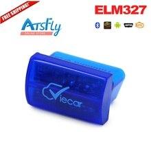 Hot viecar 2.0 elm327 super mini Bluetooth elm 327 OBD II auto code reader scanner