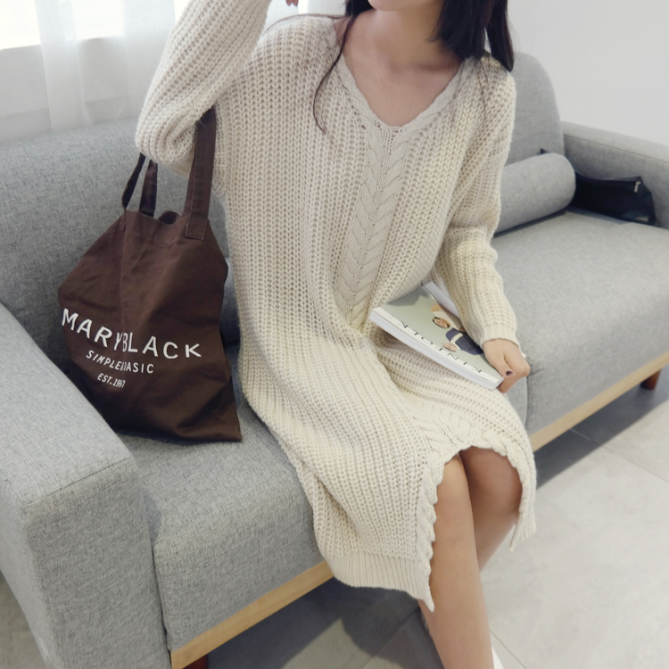 Maternity Autumn pregnant women loose sweater long sections Korean version  fall and winter jacket pregnant women backing shirt maternity spring and autumn 2016 models long sleeved loose cardigan sweater pregnant women