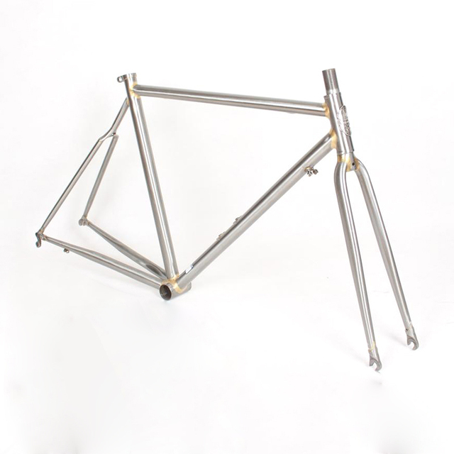 Chrome molybdenum steel FIXED gear Bike Copper plated frame DIY ...