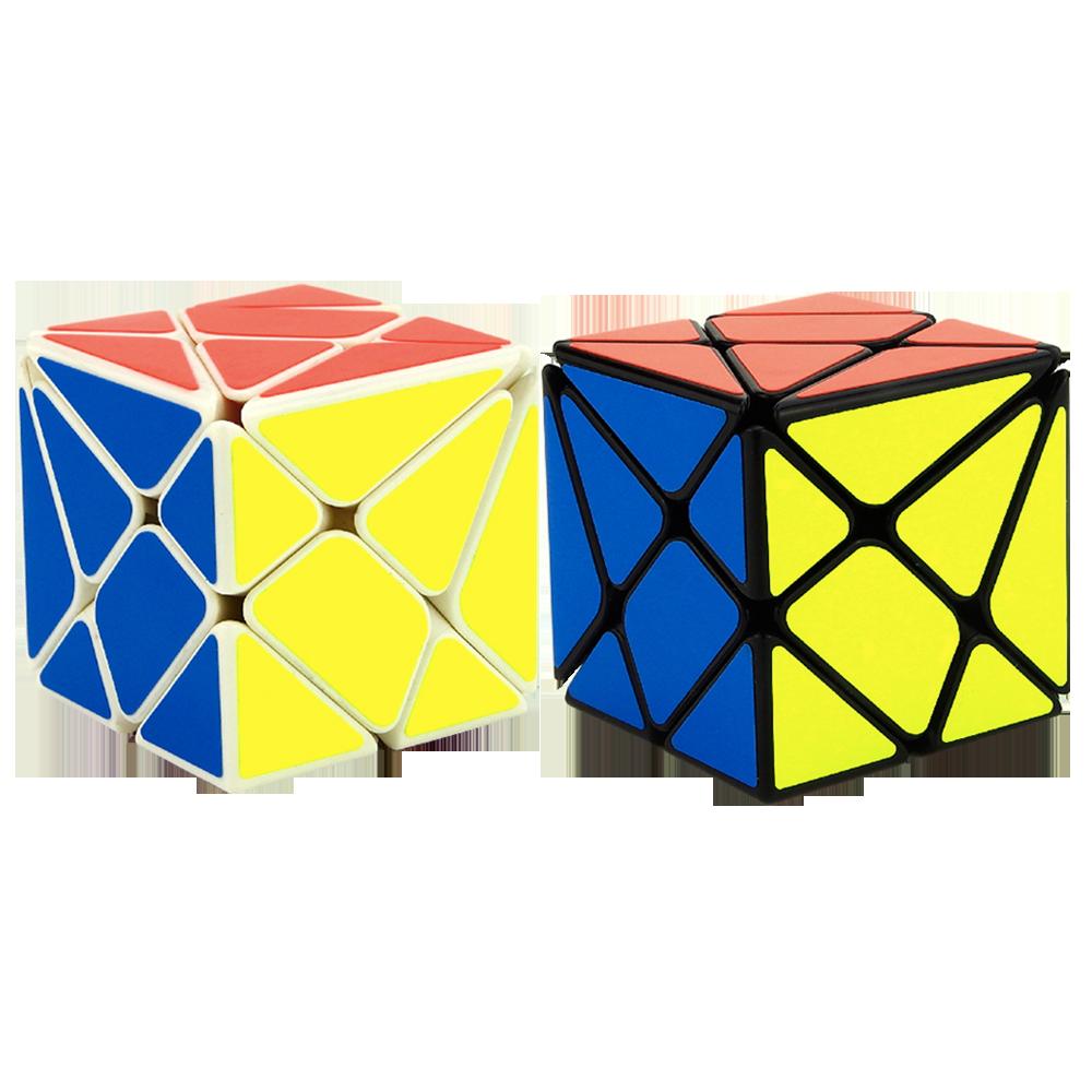 YJ YongJun Axis Magic Cube YJ BianHuanJinGang Puzzles Strange-Shaped In Black/White