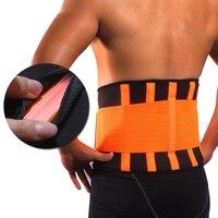 Vrouwen Mannen Taille Trimmer Riem Lendensteun Back Brace Fitness Gewichtheffen Riem Verstelbare Abdominale Elastische Taille Trainer-in Taille-ondersteuning van sport & Entertainment op