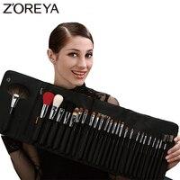 ZOREYA Brand 26Pcs Luxury Natural Goat Hair Fan Makeup Brushes Professional Cosmetic Makeup Brush Set Beauty
