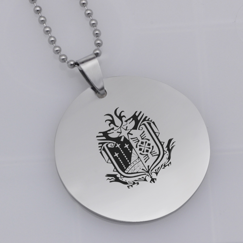 Ufine FPS game pendant fortnite shield pendant stainless steel jewelry necklace Customed words or name necklace N475