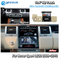 YESSUN 10.4'' HD For Range For Rover Sport 2009~2013 Car Radio Android GPS Navi maps Navigation original style Multiemdia NO DVD