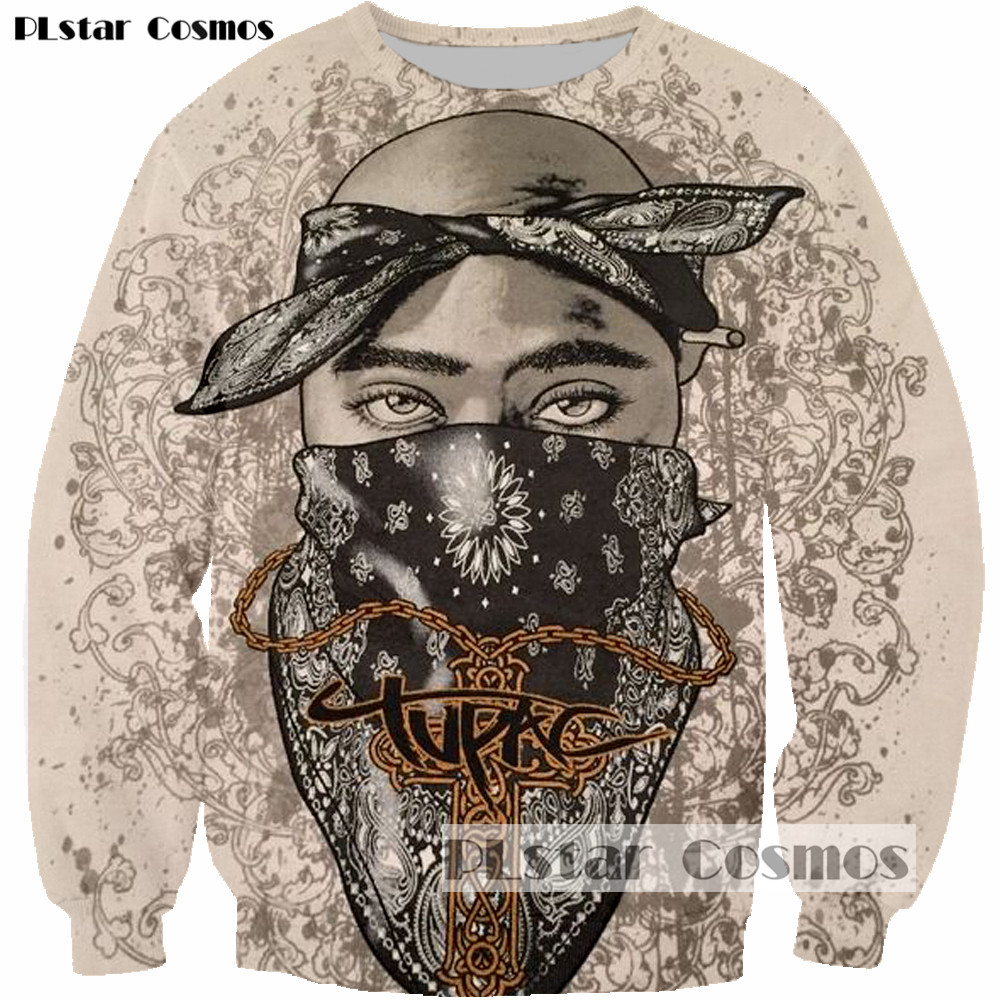 PLstar Cosmos  2pac Tupac Shakur Rock Singer Men Women Sweatshirt Hoodies 3D Print Long Sleeve Man Casual Drop Shipping