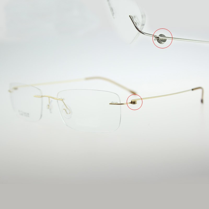 e08e181844 Chashma Ultralight Titanium Rimless Glasses Frame Myopia Frame Good ...