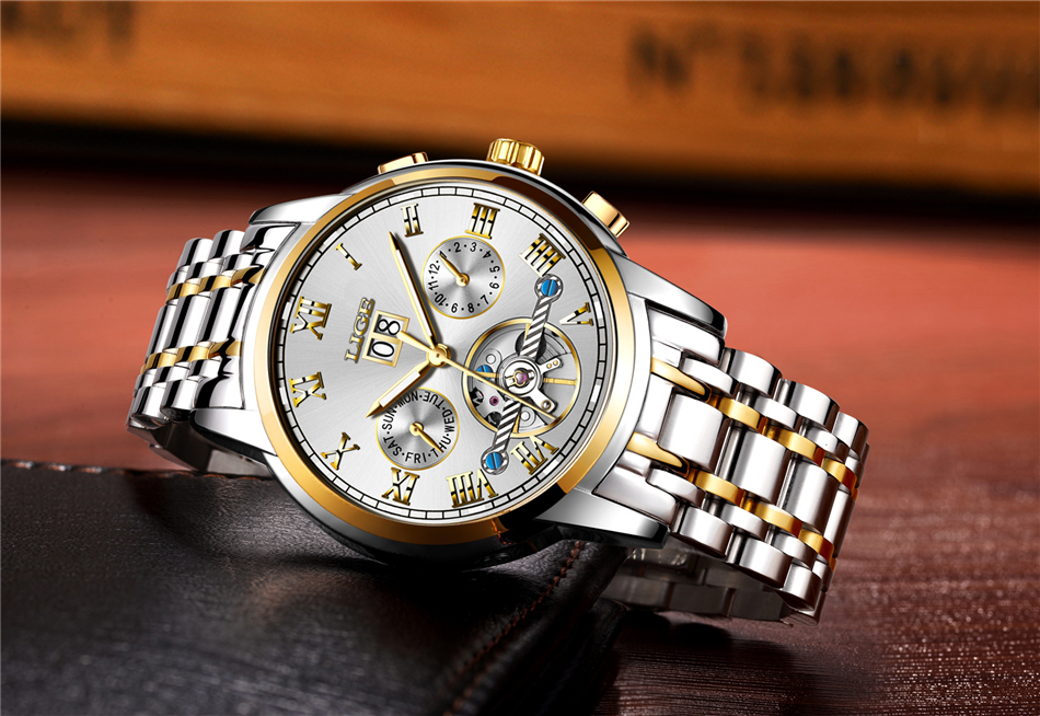 HTB1ccQAeWQoBKNjSZJnq6yw9VXaM LIGE Mens Watches Top Luxury Brand Automatic Mechanical Watch Men Full Steel Business Waterproof Sport Watches Relogio Masculino