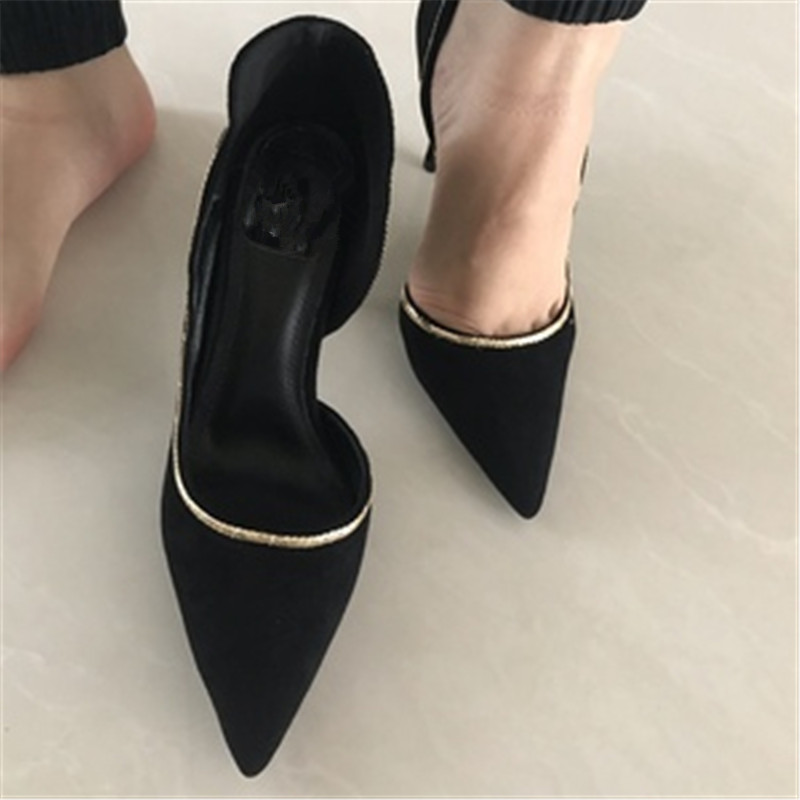 Als Hot Damen Frau Heels Elegante Frauen Pump Feminino Goldkette Schuhe Sapato Schwarze Sexy Hochzeit High Marke Stilettos Show DH29eWEIYb