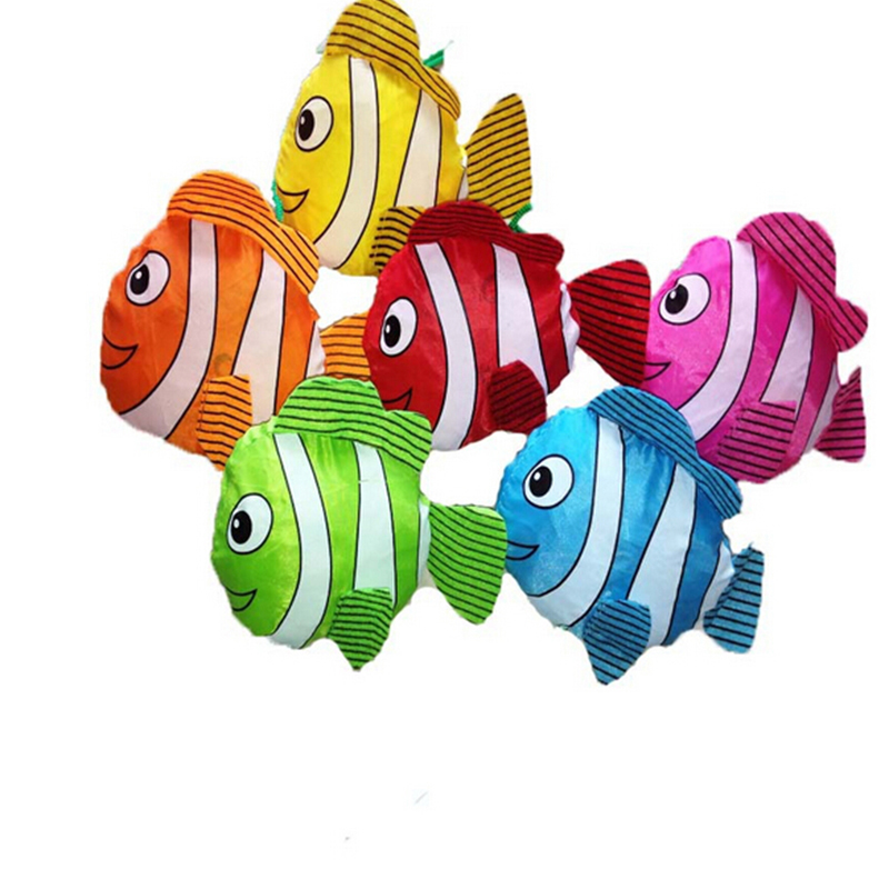 1 Stks 38 Cm X 60 Cm Willekeurige Tropische Vis Opvouwbaar Eco Herbruikbare Boodschappentassen Opvouwbare Tassen