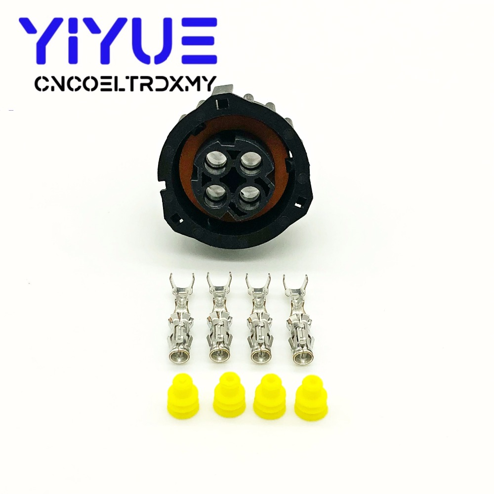 1 sets 4 pin tyco round HOWO A7 odometer speed sensor plug sealed auto connector 1-967325-1 (2)