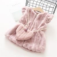 0 5 Years 2017 Autumn Winter Fashion Solid Warm Kid Children Baby Girl Clothing Jacket Outerwear