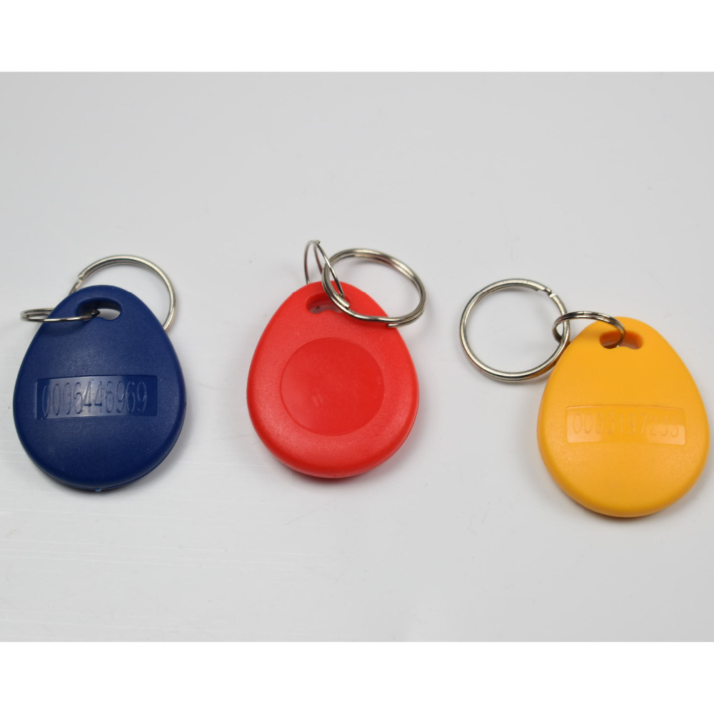 50pcs RFID 125KHz Tag TK4100 EM4100 Proximity ID Token Tags Key fobs Ring RFID Card for Access Control Time Attendance 50pcs lot 125khz rfid tag proximity id card key tag keyfobs access control card blue yellow red
