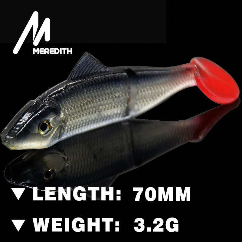 Meredith LURE JX03-07 Retail HOT SELLER  10pcs  70MM 3.2G fishing fish soft lure  soft bait meredith lure jx51 10 retail hot model 5pcs 95mm 7 9g quality artificial bait fish fishing soft lures