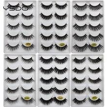 5 Pairs Mink EyeLashes 3D False Lashes winged Thick MakeupEyeLash Dramatic Lashes Natural Volume Soft Fake Eye Lashes g800