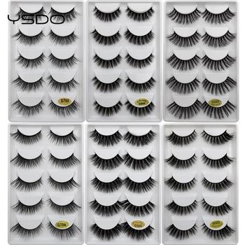 500 Pairs Mink EyeLashes 3D False Lashes winged Lash Thick MakeupEyeLash Dramatic Lashes Natural Hair Volume Soft Fake EyeLash