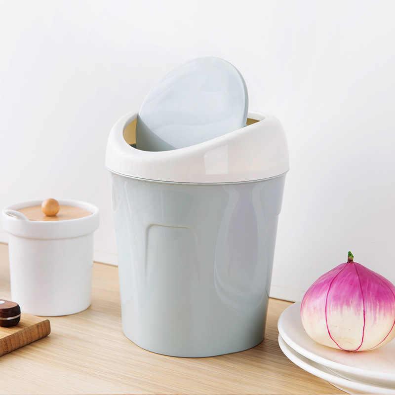 Tampa da Lata de Lixo de Desktop Pequena Sala de estar Mesa de Café Cesta de Mesa para Uso Doméstico Mini Balde De Armazenamento de Lixo Pode