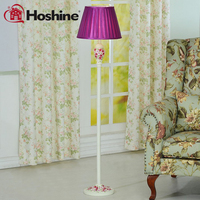 Hoshine New Arrival Pastoral Flower Modern Floor Lamp for Living Room Purple Cloth Shade CCC CE passed 1 Led Light 110V 220V