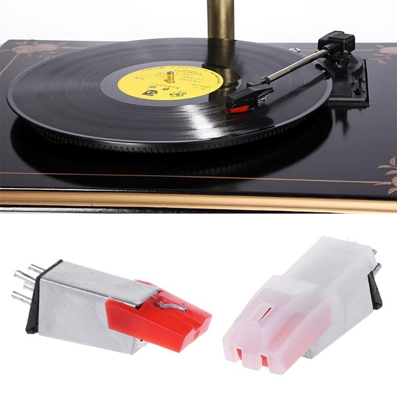 Vinyl Record Turntable Stereo Ceramic Pickup Cartridge Stylus Phonographs Supply