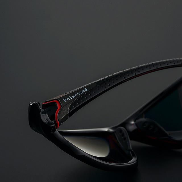 UNISEX Gafas de sol clásico de PC de alta calidad marco de lente polarizada recomendada para deportistas