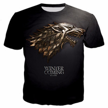 Game Of Thrones T Shirt Men 2019 House Stark The North Remembers Men Raglan 3D T-Shirt Summer Tops Tees Men's Short Sleeve Shirt цена и фото
