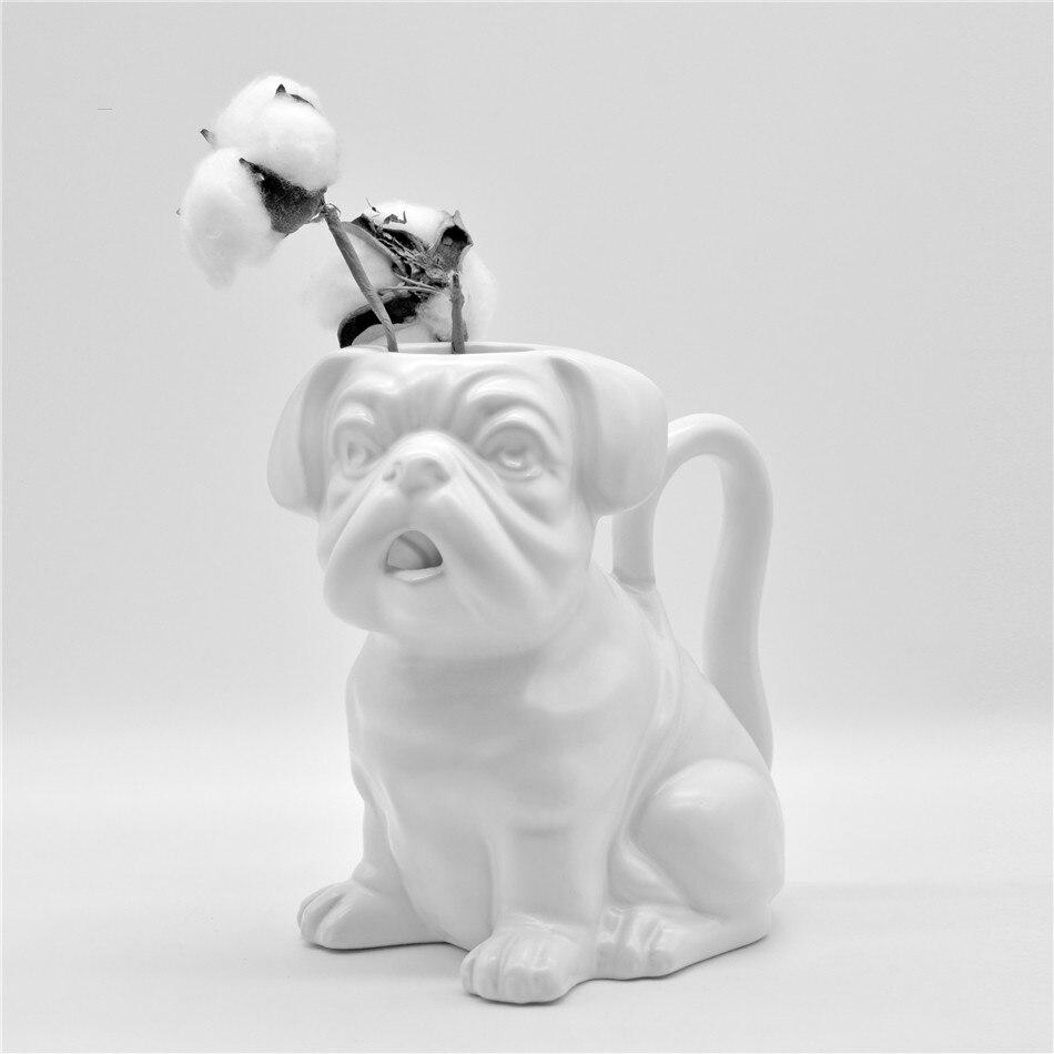 Bouledogue style bouilloire céramique méthode seau bouilloire froide vase créatif style animal cruche personnalisée bouilloire en verre cruche d'eau