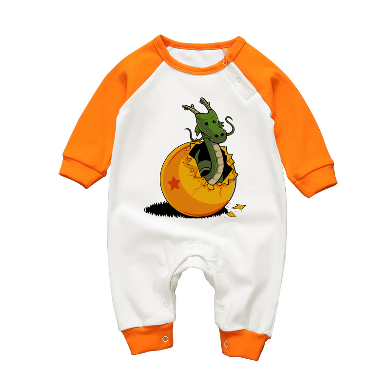 Infant Rompers Long Sleeve Baby Boys Girls Jumpsuit Dragon Ball Cartoon Newborn Babe Clothing Winter Toddler Baby Cotton Clothes unisex baby boys girls clothes long sleeve polka dot print winter baby rompers newborn baby clothing jumpsuits rompers 0 24m