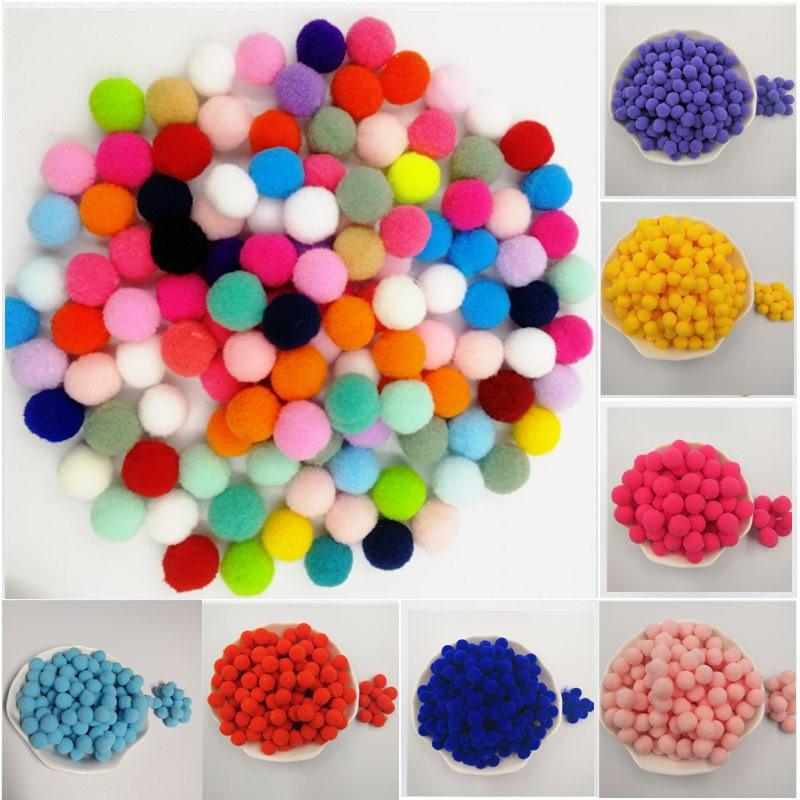 488pcs/bad Pompom 8mm-30mm Round Pom Poms Fur Balls DIY Crafts Pompoms For Kids Wedding Garment Sewing Home Decorations 20g