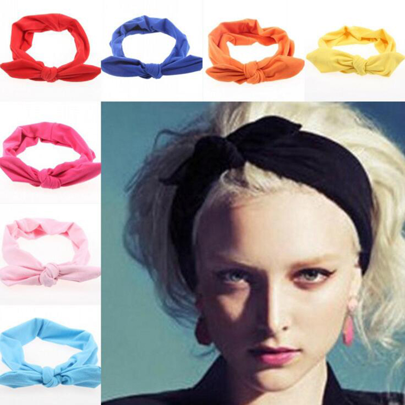 Fashion Hair Accessories Women's Yoga Headbands Black Pink Purple   Headwears   for Girls Turbans Knot Bandage Hairband Bandana XM