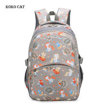 Primary School Backpacks Multi-compartment Travel Rucksack Animals Printed Cartoon Canvas Bookbags Teenager Girls Daily Bagpack cool schoolbag big shark cartoon backpack black bookbags fashion primary school backpacks boys rucksack bagpack
